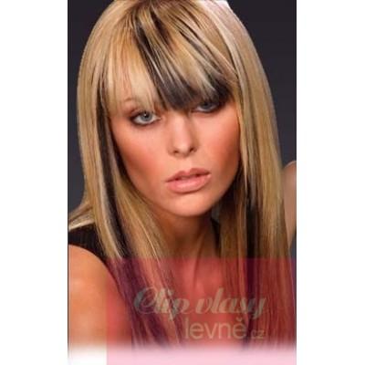 Clip in pramienok - REMY 100% ľudské vlasy - čierna c5965995808