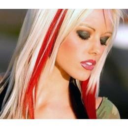 Clip in pramienok - REMY 100% ľudské vlasy - červená