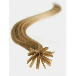 Clip in maxi set 43cm pravé lidské vlasy - REMY 140g - středně hnědá