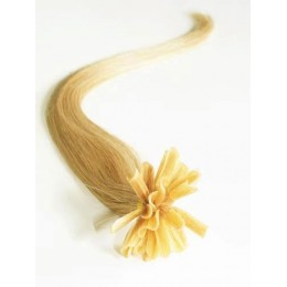 Clip in maxi set 43cm pravé lidské vlasy - REMY 140g - světle hnědá