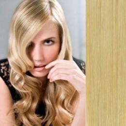 Clip in příčesek culík / cop 100% japonský kanekalon 60cm - nejsvětlejší blond
