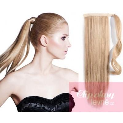 Clip in cop/vrkoč 100% japonský kanekalon 60cm - prírodná blond