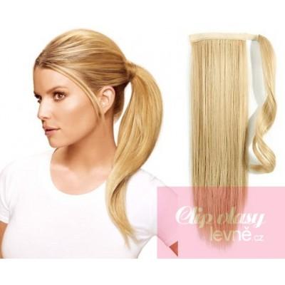 Clip in cop/vrkoč 100% japonský kanekalon 60cm - najsvetlejšia blond