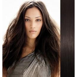 Clip in vlasy 73cm 100% lidské – REMY 140g – PŘÍRODNÍ ČERNÁ
