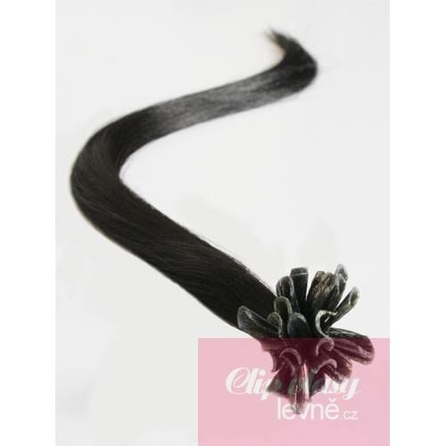 Vlasy európskeho typu na predlžovanie keratínom 60cm - prírodná čierna 3d44aa32db4