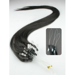 Vlasy pro metodu Micro Ring / Easy Loop / Easy Ring / Micro Loop 50cm – přírodní černá