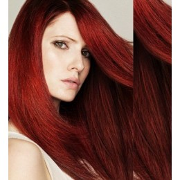 Vlasy pro metodu Pu Extension / TapeX / Tape Hair / Tape IN 40cm - měděná