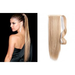 Clip in příčesek culík/cop 100% lidské vlasy 50cm - přírodní blond