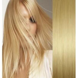Clip in maxi set 73cm pravé lidské vlasy – REMY 280g – PLATINA