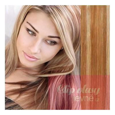 Clip in vlasy 63cm 100% ľudské - REMY 120g - svetlý melír 9adcc93efc9