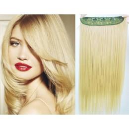 Clip in rychlopás 63cm kanekalon rovný – nejsvětlejší blond