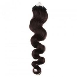 Vlasy pre metódu Micro Ring / Easy Loop 50cm vlnité - prírodná čierna