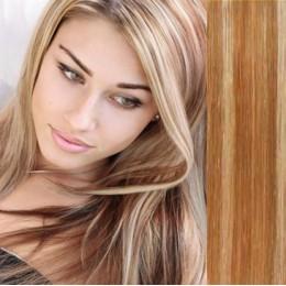 Vlasy evropského typu k prodlužování keratinem 50cm - nejsvětlejší blond