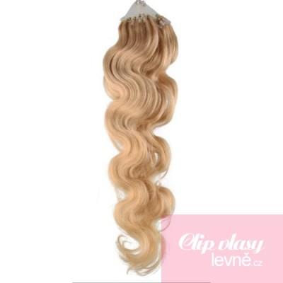 Vlasy pre metódu Micro Ring / Easy Loop 50cm vlnité - prírodná blond