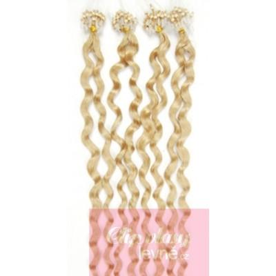 Vlasy pre metódu Micro Ring 50cm kučeravé - najsvetlejšia blond