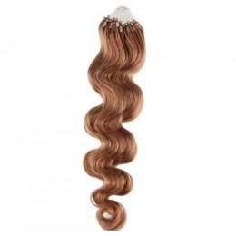 Vlasy pre metódu Micro Ring / Easy Loop 60cm vlnité - svetlo hnedá