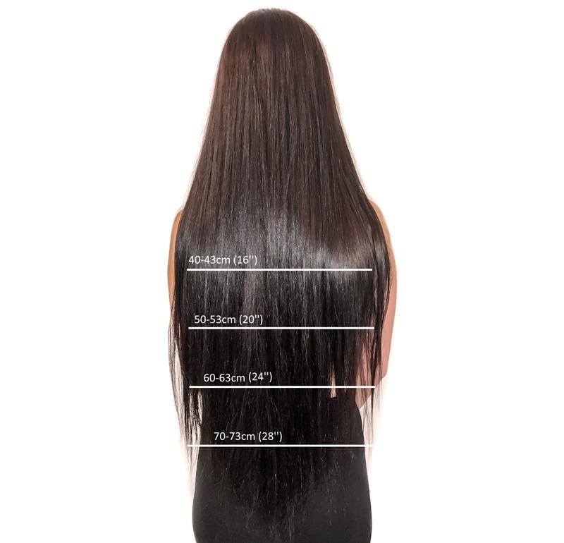 Ako vybrať dĺžku Clip in vlasov