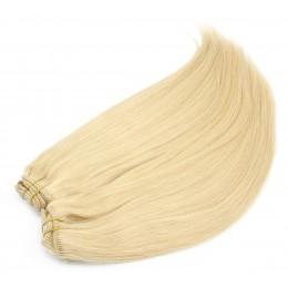 Clip in maxi set 73cm pravé ľudské vlasy - REMY 280g - svetlejšia blond