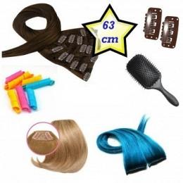 Clip in deluxe balíček – clip vlasy 63cm REMY pravé lidské