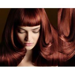 Clip in ofina – REMY 100% lidské vlasy – MĚDĚNÁ