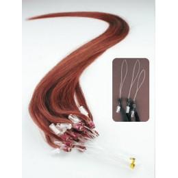 Vlasy pre metódu Micro Ring / Easy Loop 60cm - medená