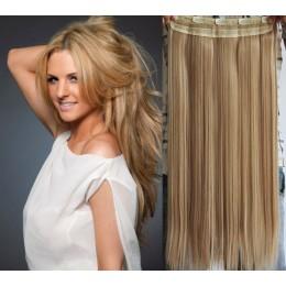 Clip in rychlopás 63cm rovný – přírodní / světlejší blond