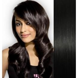 Vlasy evropského typu k prodlužování keratinem 40cm - světle hnědé