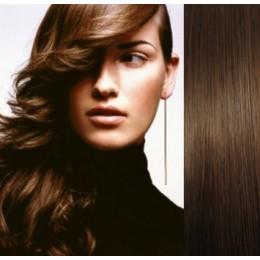 Vlasy evropského typu k prodlužování keratinem 40cm - světlejší hnědá