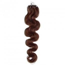 Vlasy pre metódu Micro Ring / Easy Loop 50cm vlnité - stredne hnedá