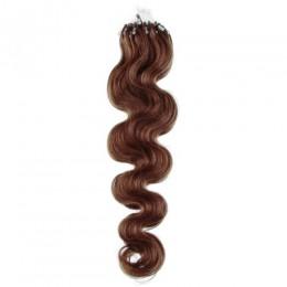 Vlasy pre metódu Micro Ring / Easy Loop 50cm vlnité - svetlejšia hnedá