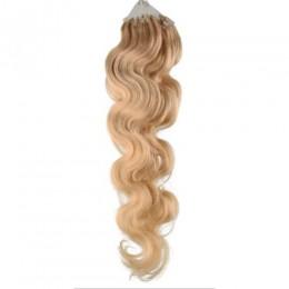 Vlasy pre metódu Micro Ring / Easy Loop 60cm vlnité - prírodná blond